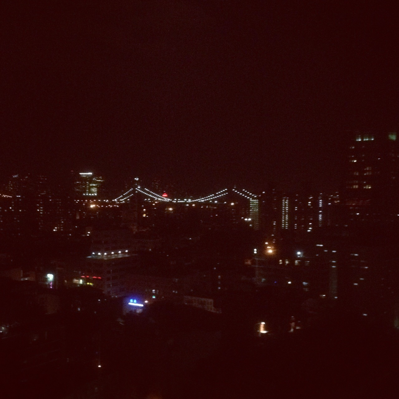 View at Night from my Room