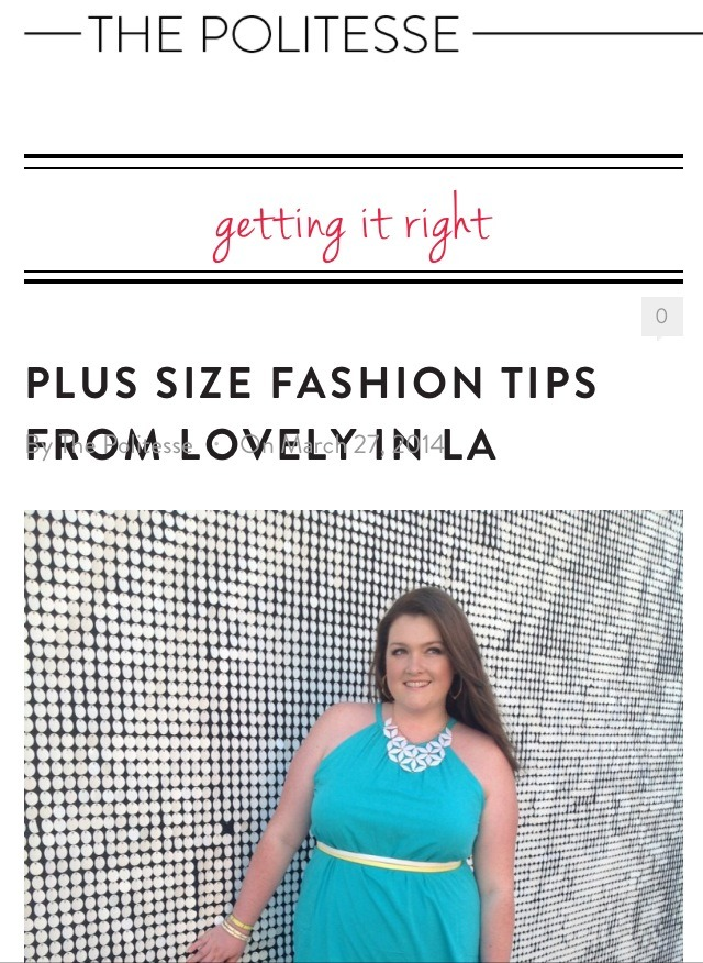 Plus Size Fashion Tips from Lovely in LA