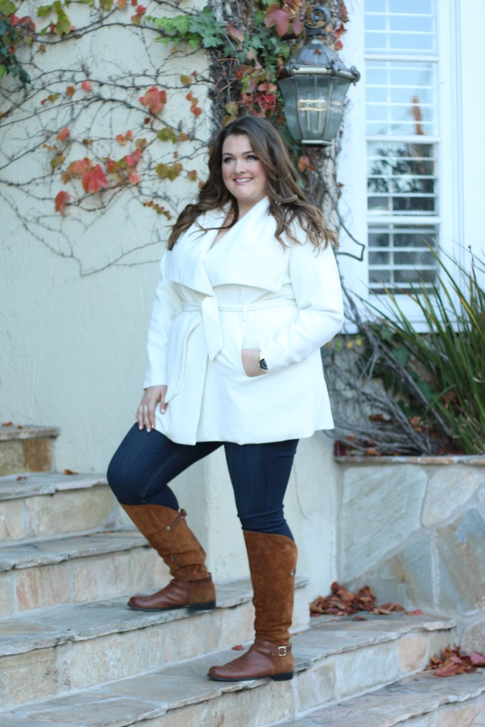 Lovely in LA Naturalizer July Boots Camel Plus Size Fashion Wide Calf Boots