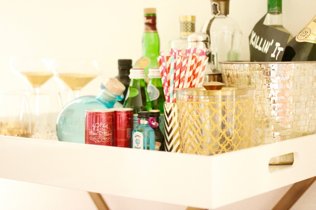 Lovely in LA Styled Bar Cart West Elm Holiday