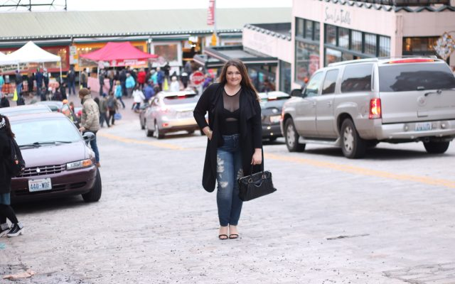 lovely in la boohoo plus size bodysuit waterfall trench coat black pike place market downtown seattle