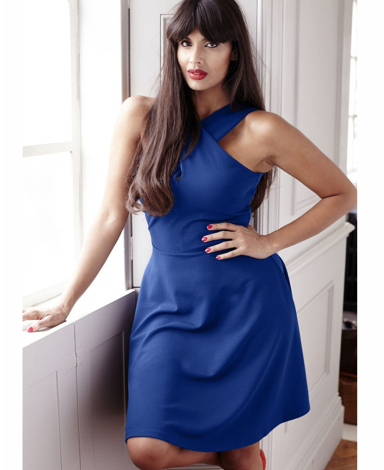 lovely in la simply be cobalt blue dress plus size dress shoulder cutout