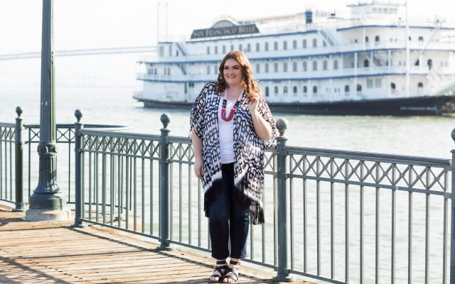 lovely in la catherines plus sizes wandering soul kimono topper plus size blogger los angeles san francisco curvy