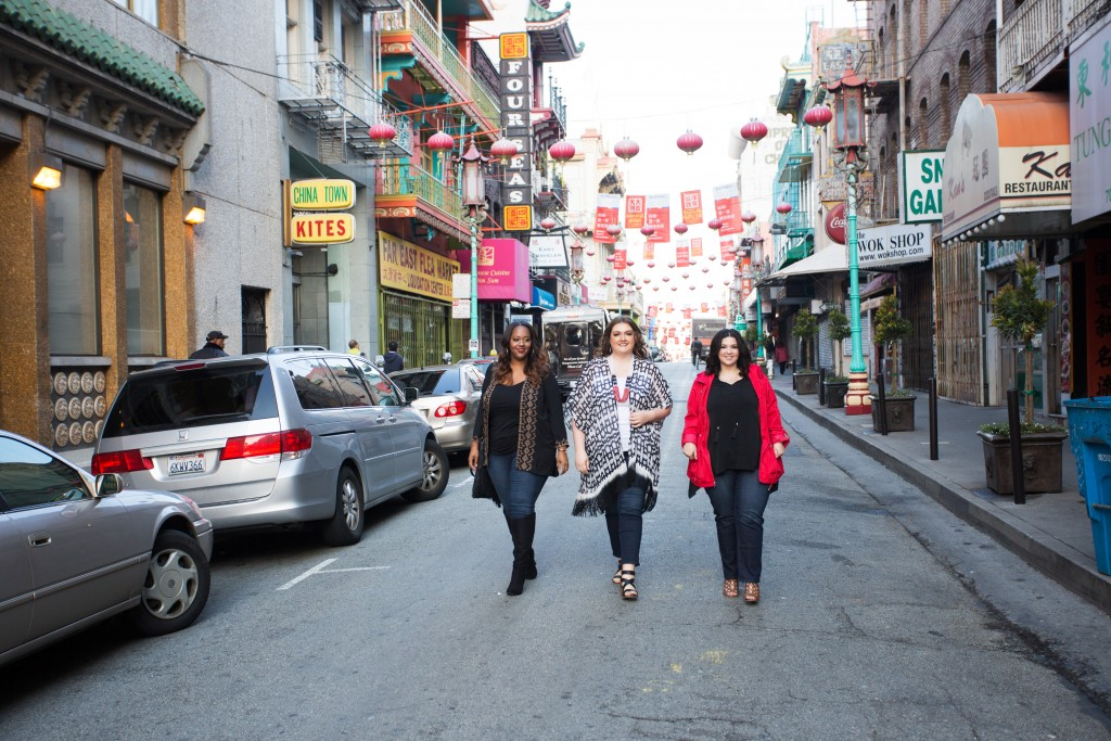 lovely in la catherines plus sizes curvy blogger san francisco chinatown los angeles kimono topper