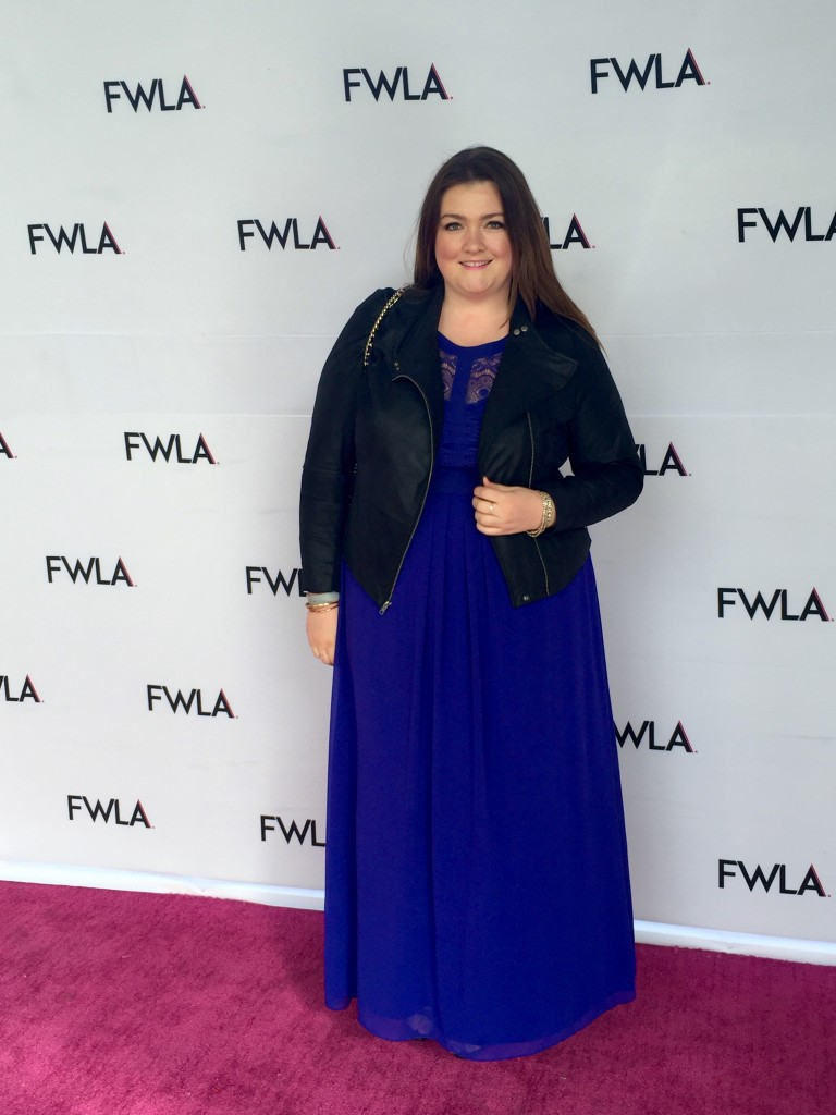 Lovely in LA Rachel Richardson Fashion Week LA FWLA Cynthia Rowley Red Carpet City Chic Plus Size Dress