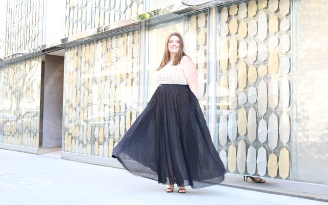 lovely in la abs by allen schwartz top plus size blogger los angeles beverly hills dress oscars gown