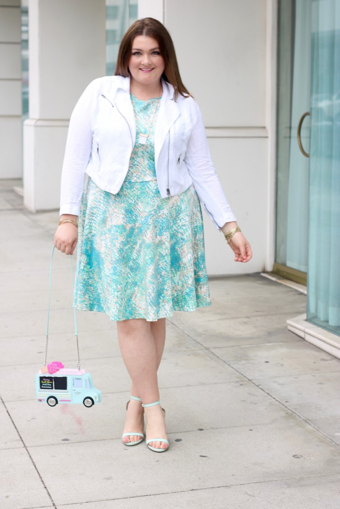 lovely in la kate spade flavor of the month fashion to figure top plus size blogger spring scuba dress los angeles beverly hills