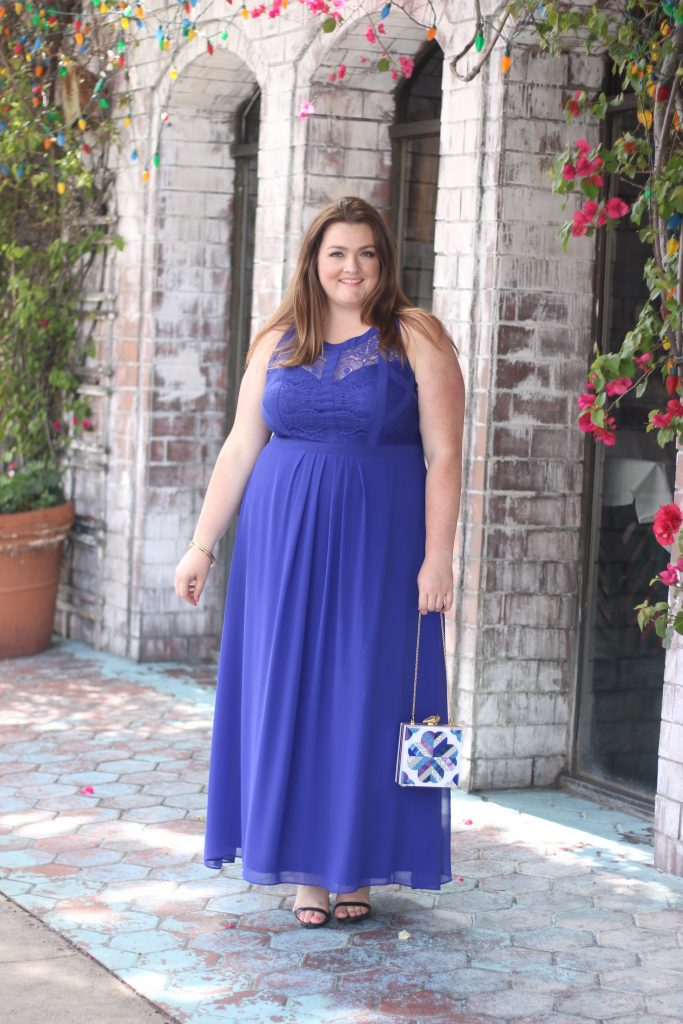 lovely in la robertson blvd the ivy city chic purple dress top los angeles blogger plus size fashion