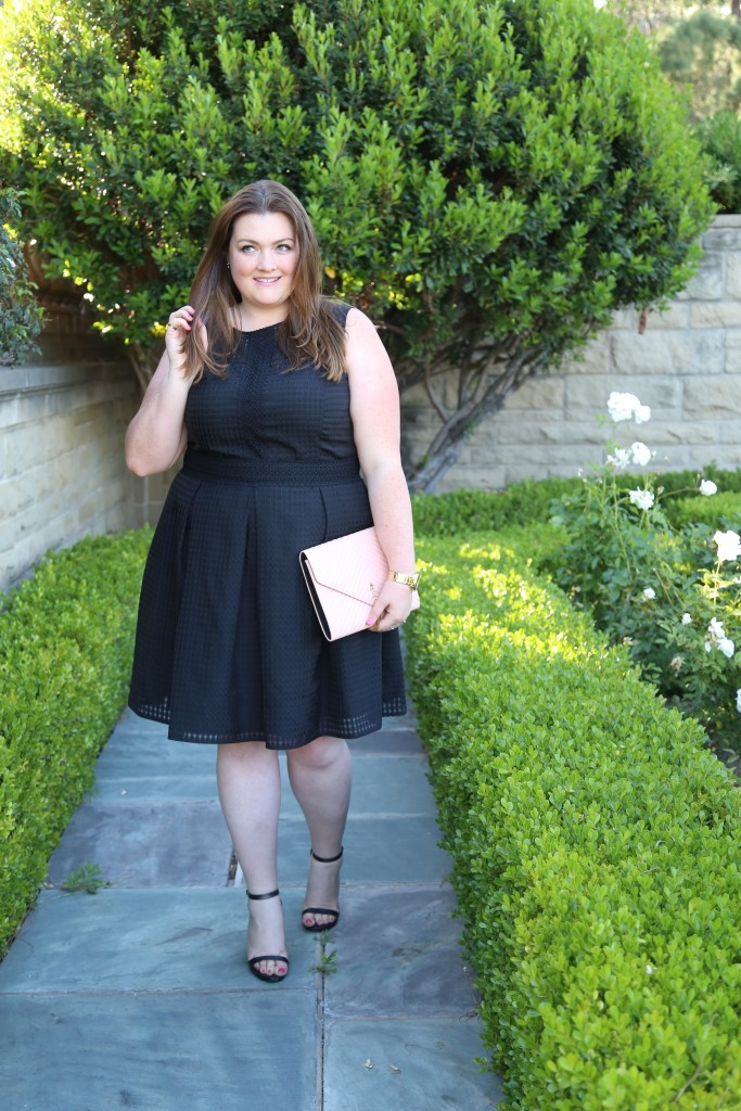 lovely in la maggy london london times curve fit and flare carolyn dress top 25 plus size instagrammers black dress los angeles