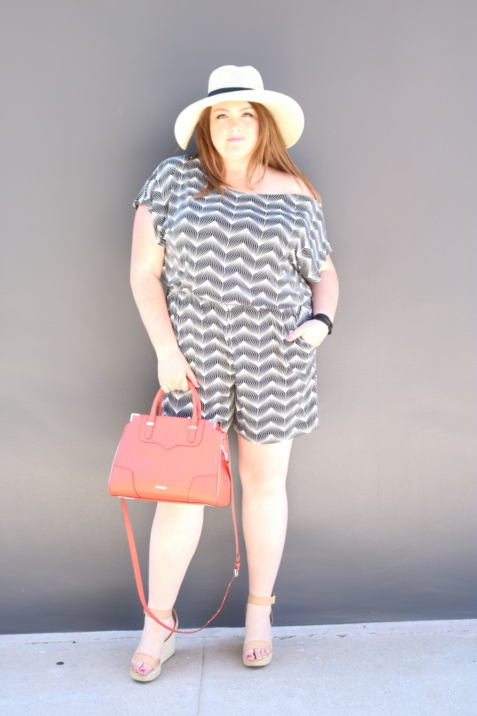 lovely in la top plus size blogger romper gwynnie bee los angeles fashion rebecca minkoff