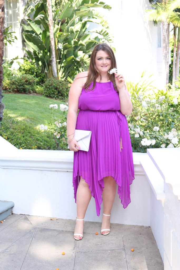 lovely in la city chic divine pleat maxi dress orchid top plus size blogger los angeles dress summer style