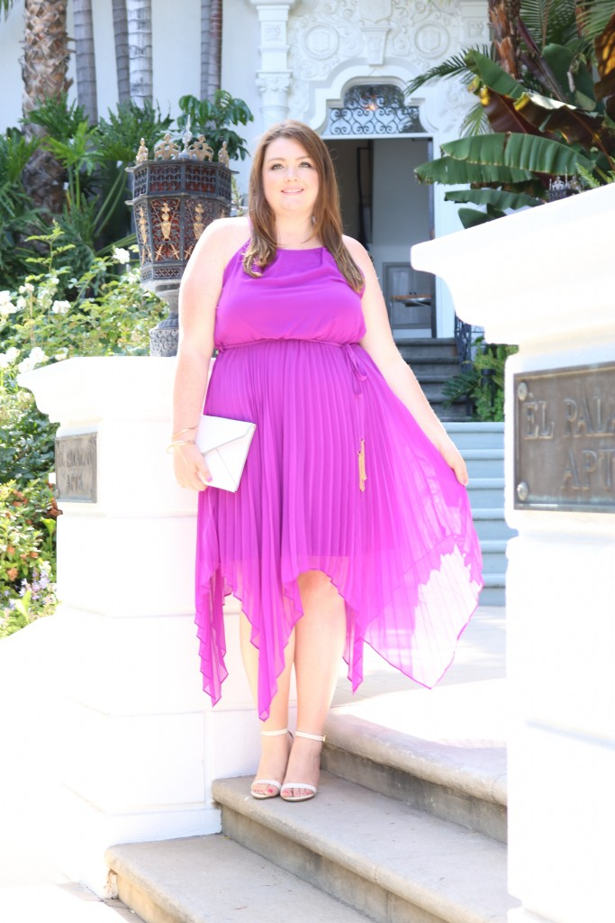 lovely in la city chic purple dress top plus size blogger style fashion los angeles curvy