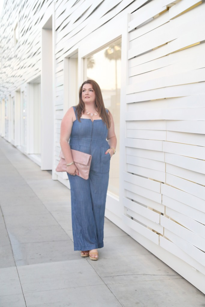 lovely in la rachel roy curvy denim jumpsuit with straps