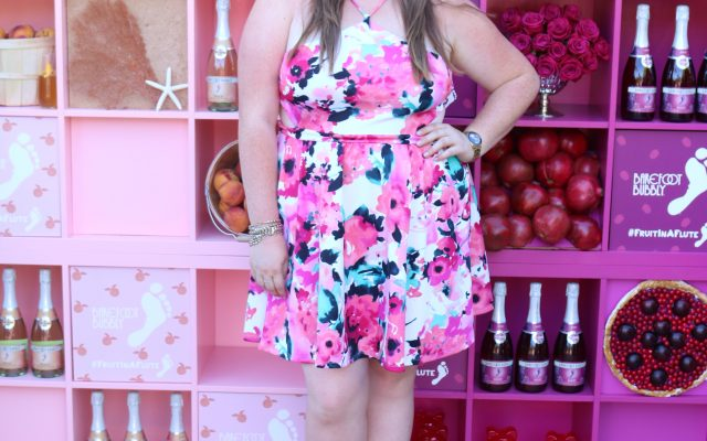 lovely in la debshops floral cutout dress los angeles beverly hills plus size blogger lifestyle blogger