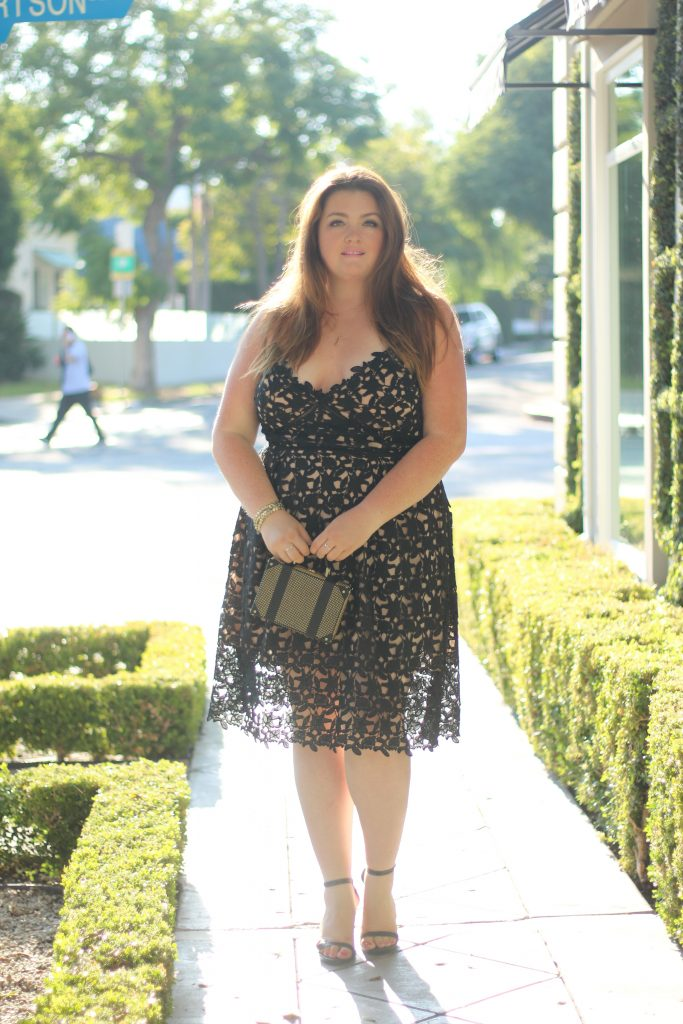 lovely in la city chic so fancy lace dress black top plus size blogger los angeles