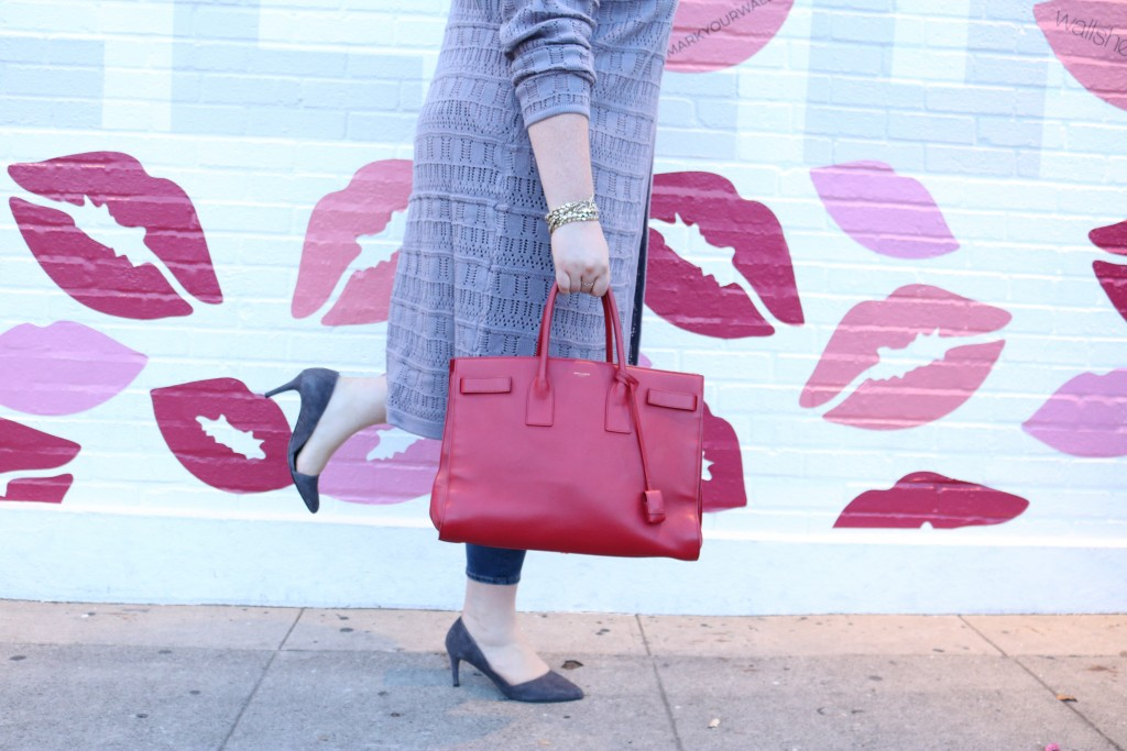 lovely in la trendlee collab used ysl sac du jour red