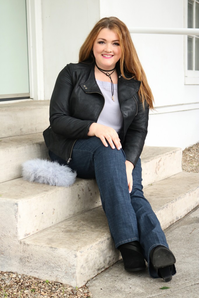 lovely in la Riders by Lee style challenge plus size blogger bootcut jeans