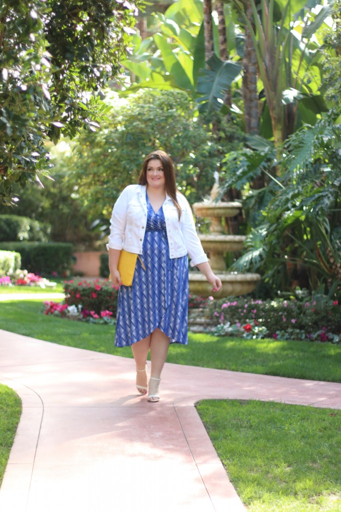 lovely in la spring layering with catherines plus sizes
