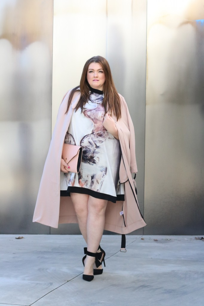 curvy trendy fashion elvi plus size trench coat