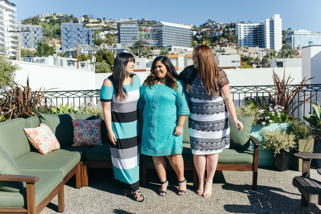 trendy curvy plus size catherines day in LA lovely in la plus size blogger trip
