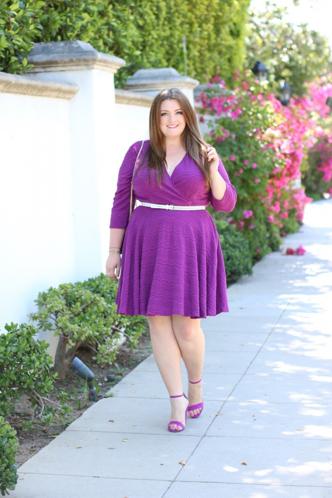gwynnie bee tracy reese collaboration lovely in la purple scallop dress zara pineapple dress