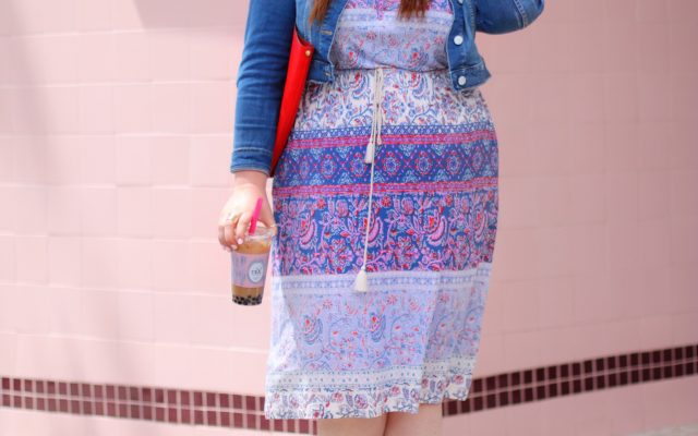 lucky brand dress plus size gwynnie bee alfred tea room los angeles west hollywood blogger