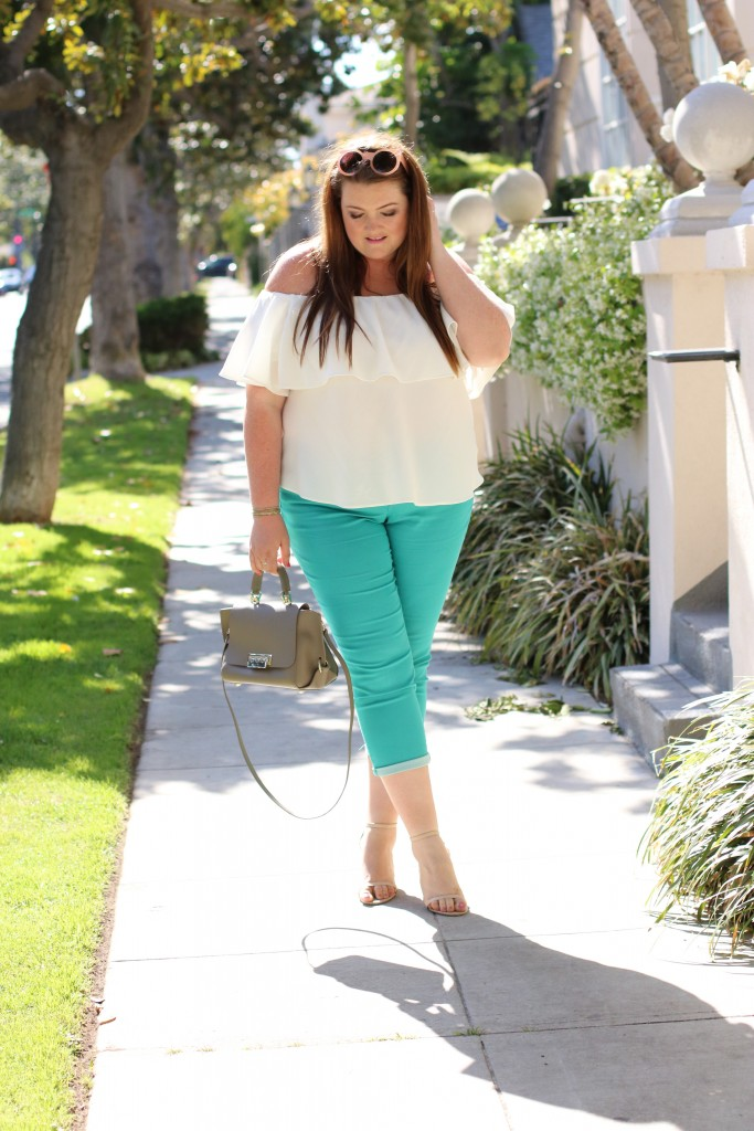 trendy curvy blogger denim stage stores absolutions skimmer ankle pant