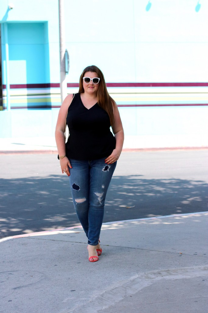 plussize stitchfix lovely in la trendy curvy jeans blogger los angeles