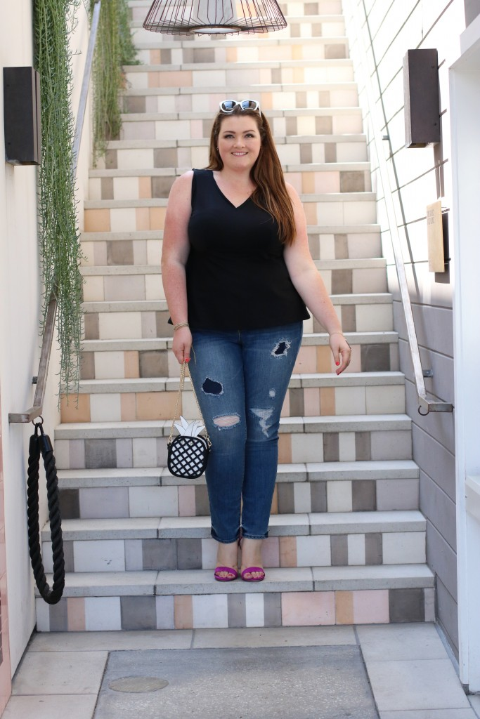 plus size stitch fix lovely in la trendy curvy denim top plus size blogger