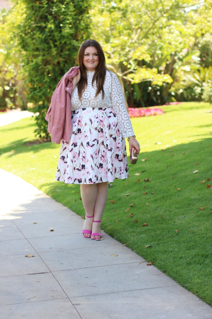 trendy curvy jd williams floral print proms skirt with pockets beverly hills hotel style lovely in la