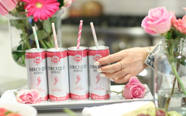 barefoot wine in a can rose spritzer