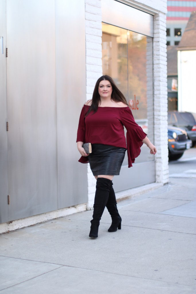 Macys City Chic Off the Shoulder Trendy Plus Size Tops