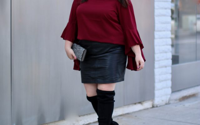 City Chic Macy's Off the Shoulder Top Holiday Outfit Ideas