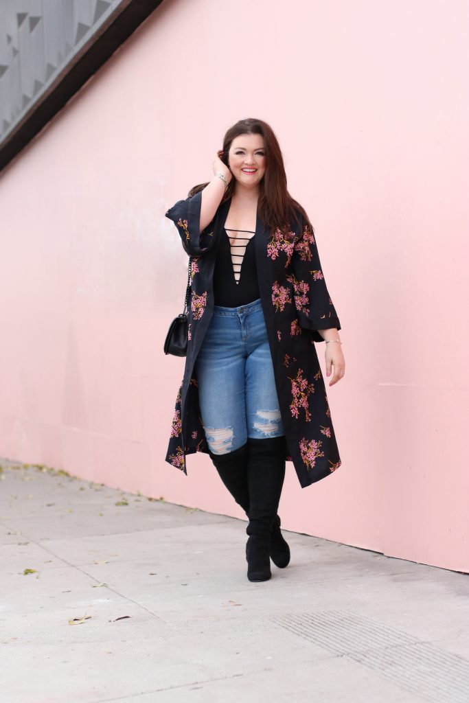 slink eden jeans sam edelman overtheknee boots casual outfits with floral kimono lovely in la