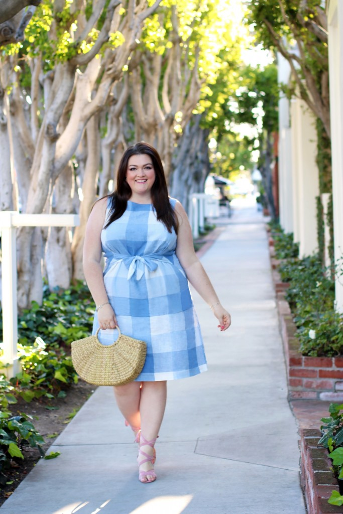 jjill gingham dress spring trends for plus size