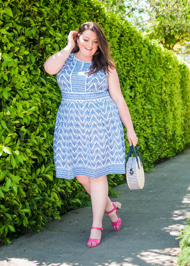 Talbots Mixed Geo Plus Size Dress
