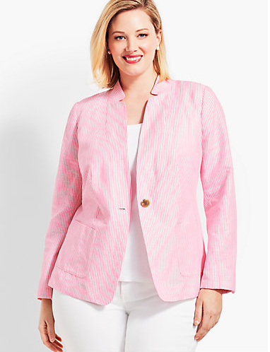 Talbots Stripe Lightweight Jacket