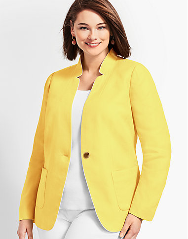 Talbots Bright Lightweight Blazer Yellow