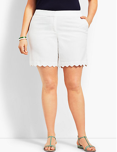 talbots scallop short plus sizes