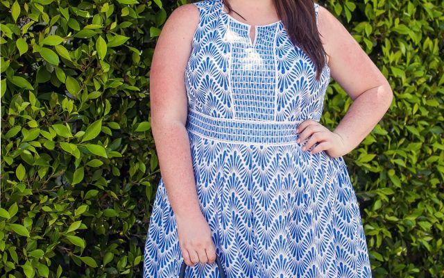 talbots geometric dress plus size