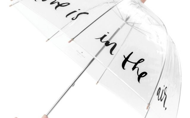 Kate Spade Polka Dot Clear Umbrella