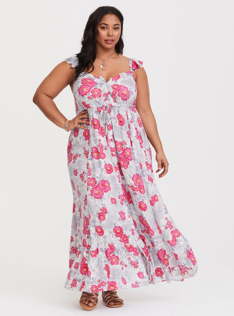 torrid floral tiered maxi dress