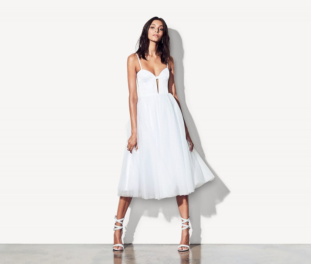 fame and partners venice dress white