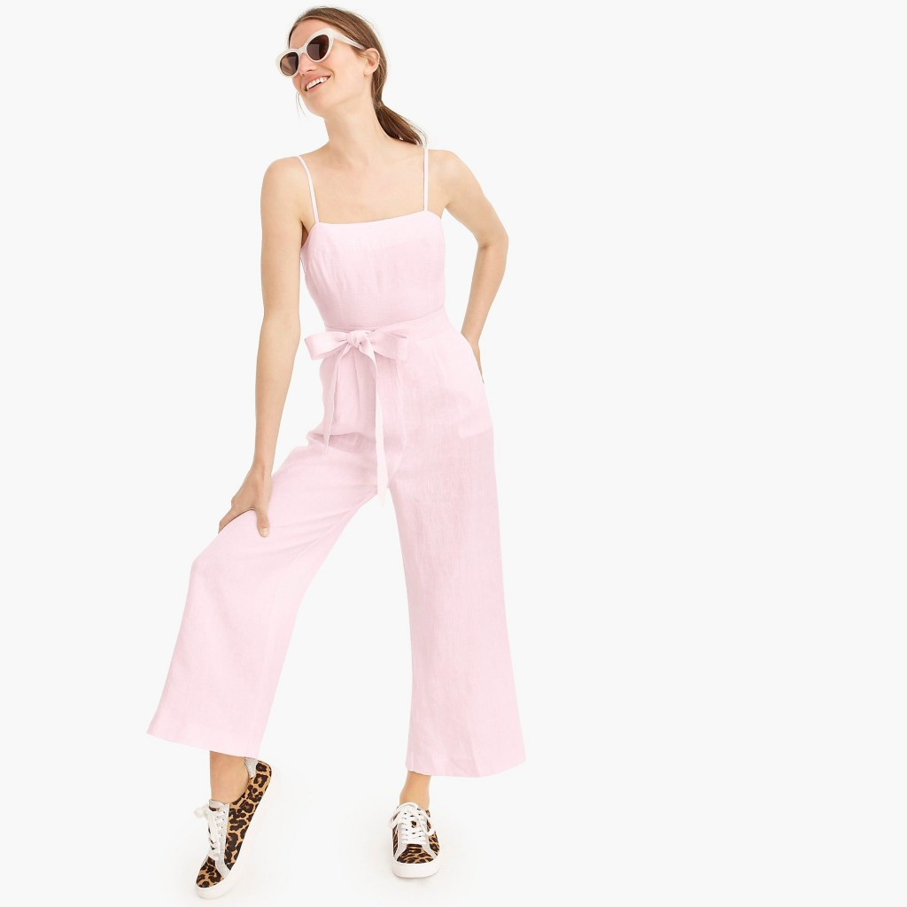spaghetti strap jumpsuit jcrew extended sizes