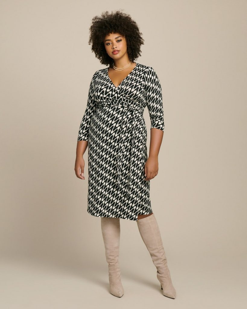 dvf plus size wrap dress