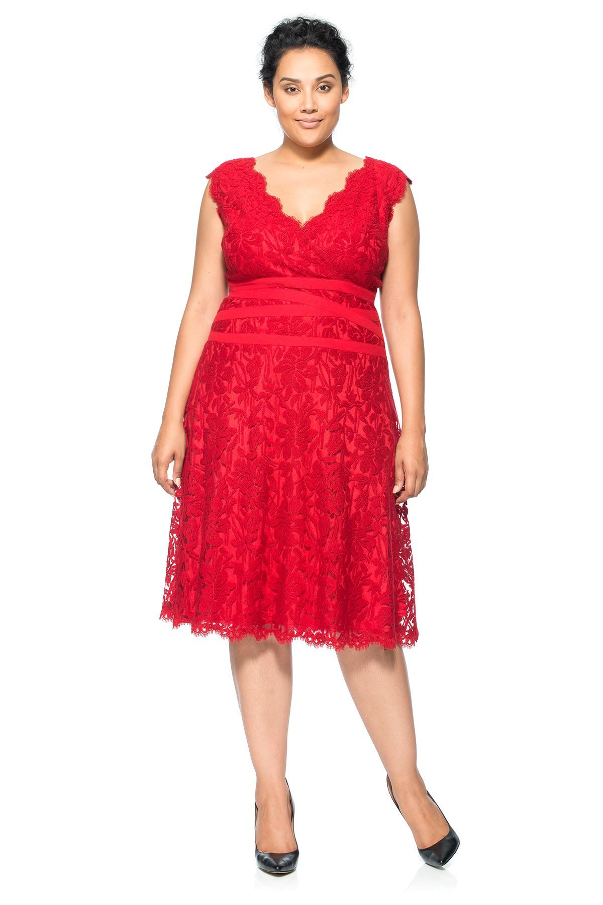 red lace plus size dress choice image - dresses design ideas