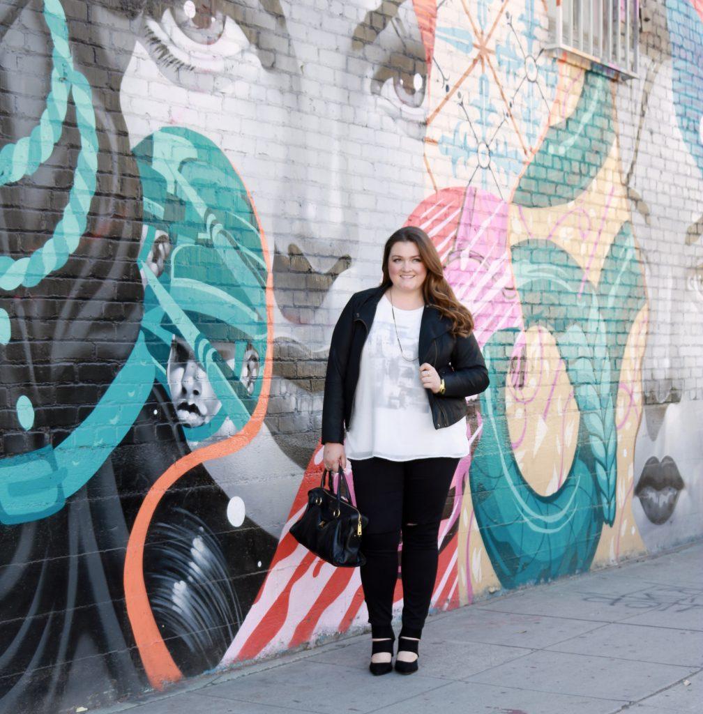 Lovely in LA Leather Black Moto Jacket Plus Size Fashion Lane Bryant