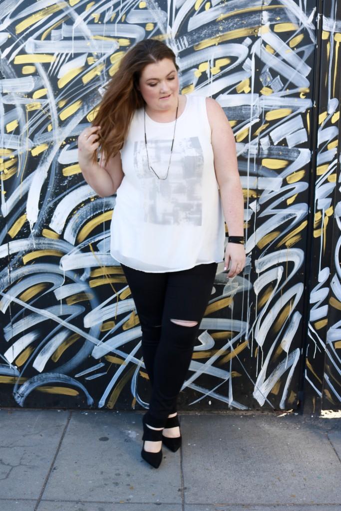 Lovely in LA Melissa McCarthy Lane Bryant Tank Top Downtown Los Angeles Plus Size Fashion