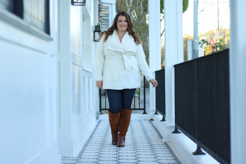 Lovely in LA Naturalizer July Boot Camel Wide Calf Los Angeles West Hollywood Plus Size Fashion