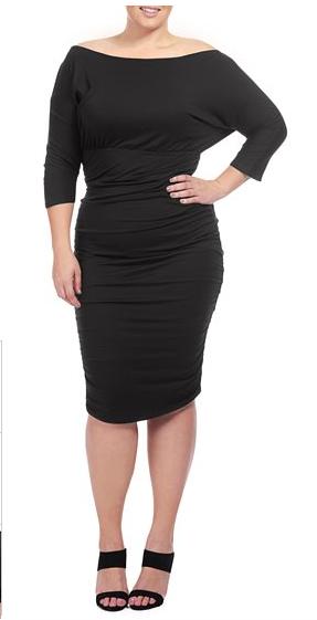 lovely in la rachel pally faraday black dress white label